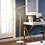 Magnifier Lamp 8X Lampada Bellezza Shadowless Light Line Braccio Rotante Regolabile con Protezione Morbida per Gli Occhi Adatto A Beauty Tattoo LED Beauty Floor (16W) White
