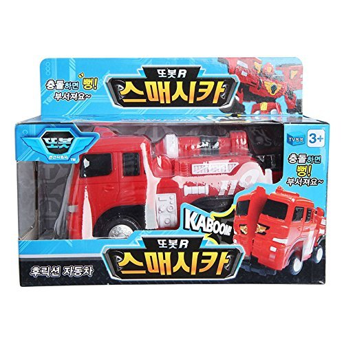 TOBOT TOBOT-R firetruck Smash Cars KABOOM Crash reaction car toy Korea Animation by young toy