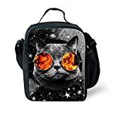 Best Teen Lunch Boxes - Nopersonality Grey Eco Zoo Cat Lunch Bag Review