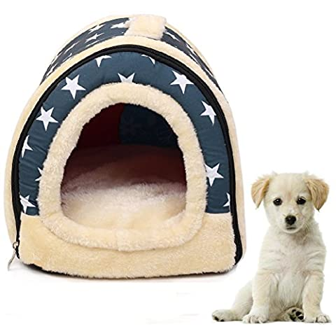 2-in-1 PET Maison & Sofa Chaleureuse Peluche Chien Chat / Kitty Lit Pliable intérieure Pet Kennel - 2 Pollici Kennel Pet Pad