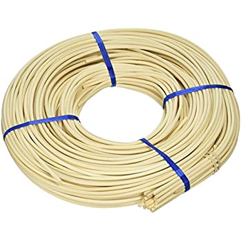 Commonwealth Basket Round Reed #1 1.5 mm 1 lb Coil-1.600 ft Approximately 1,600