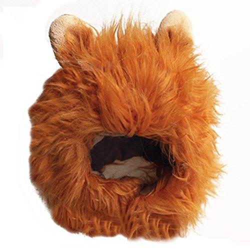 Imagen de beetest león melena mascotas peluca de gato perro mascotas disfraces halloween navidad vestir marrón