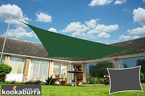 Voile d'Ombrage Vert Rectangle 4x3m - Déperlant - 140g/m2 - Kookaburra