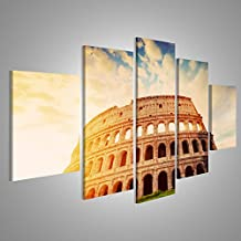 Cuadro Cuadros Coliseo en Roma, Italia símbolo del anfiteatro antiguo de la ciudad al amanecer Impresión sobre lienzo - Formato Grande - Cuadros modernos