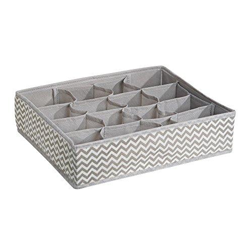 InterDesign Axis Schubladen Organizer, große Aufbewahrungsbox mit 16 Fächern aus Polypropylen, taupe und natur (Schublade Organizer Box)