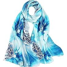073bf1a7e261d5 Seidenschals Damen 100% Seiden Schal Elegante Seidentuch Hohe Qualität  Hautfreundlich Anti-Allergie Halstuch Tuch