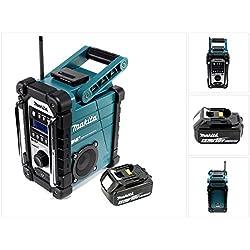 Makita Dmr 110 Digital Radio de chantier DAB + 1x Batterie BL 1850 5, 0 Ah - sans chargeur