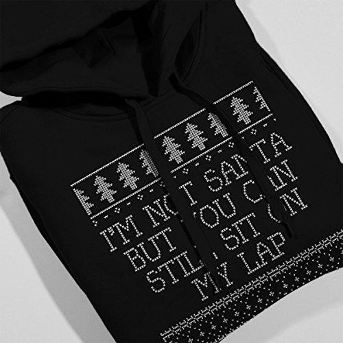 Im Not Santa Christmas Knit Women's Hooded Sweatshirt Black