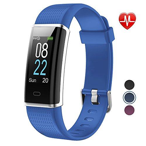 Preisvergleich Produktbild YAMAY Fitness Armband, Wasserdicht IP68 Fitness Tracker mit Pulsmesser 0, 96 Zoll Farbbildschirm Aktivitätstracker Fitness Uhr Smartwatch, Pulsuhren, Schrittzähler Uhr, Smart Watch für Damen Herren