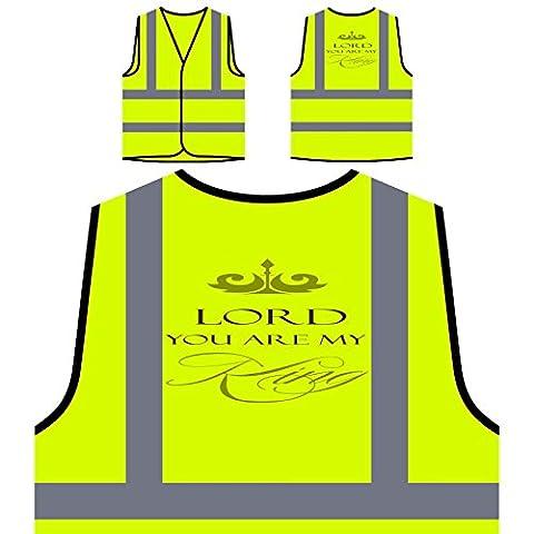 Seigneur, Vous Êtes Mon Roi Veste de protection jaune personnalisée à haute visibilité n255v