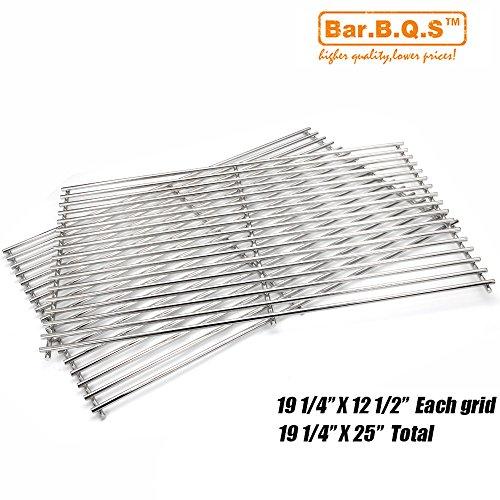 Bar.B.Q.S 5S612 Satz von 2, BBQ Edelstahl-Draht-Kochen-Raster-Ersatzteile Modelle für wählen Sie Brinkmann, Charmglow, Jenn-Luft 720-0511; Nexgrill 720-0057 und Turbo Gas Grill Modelle