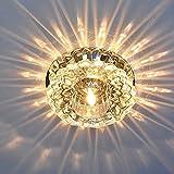 5w moderna de alta potencia LED ras de cristal de la lámpara de techo montado luz accesorio vestíbulo