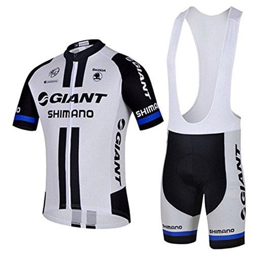 Etbotu Giant Shimano Outdoor Sports Pro Team Herren Trikot und Trägerhose Kurzarm Radfahren M