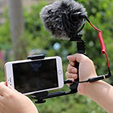 RV77 L-shaped Angle 2 Shoe Flash Bracket DV bracket tray Dual Hot shoe L-shaped Flash Bracket for DSLR Camera and Camcorders