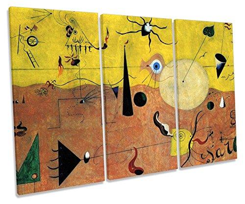 Lienzo con impresión de Cuadros de The Hunter Treble Canvas de Joan Miro, catalán, Paisaje catalán, 150cm Wide x 100cm High