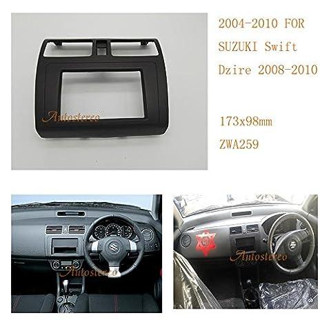 autostereo 11–259installieren Trim Kit Radioblende Armaturenbrett Auto Radioblende für Suzuki Swift 2004–2010DZIRE KFZ Radio Einbau (Din-radio-install Kit)