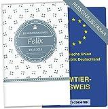 EU-Heimtierausweis Hülle Lovely Kittens Tierausweis Schutzhülle schöne Geschenkidee personalisierbar mit Namen und Geburtsdatum (ohne Motiv, EU-Heimtierausweishülle personalisiert)