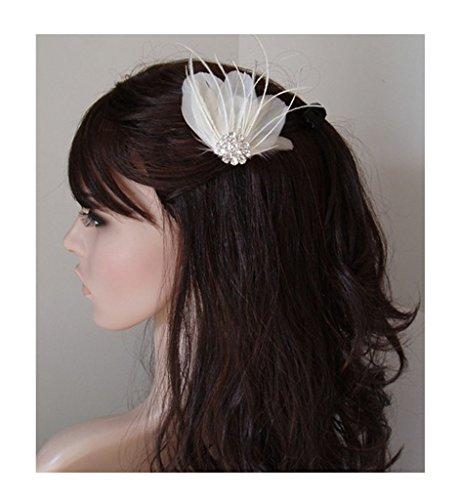 Jelinda Damen Feder Haarnadel Haarspange mit Strass