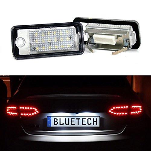 LED Kennzeichenbeleuchtung Kennzeichenleuchte Xenon-Optik - C6 Mit Blauem Led-licht