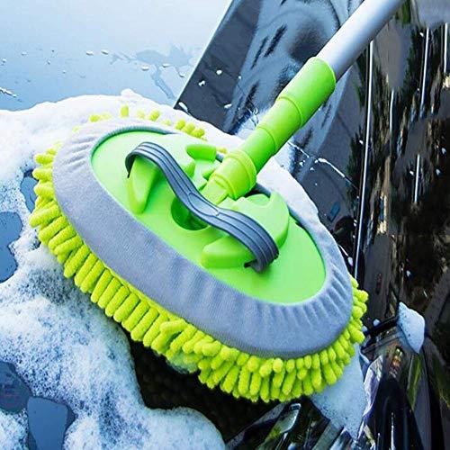 Mikrofaser Autowaschbürste Langen Griff Einziehbar Weicher Pinsel Baumwolle 360 ° Rotative