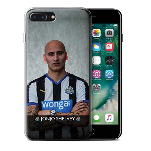 Offiziell Newcastle United FC Hülle / Gel TPU Case für Apple iPhone 7 Plus / Pack 25pcs Muster / NUFC Fussballspieler 15/16 Kollektion Shelvey