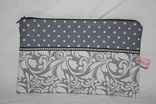 Lilli Cœur de Lion main Trousse Clutch Stars and Ornaments Grey