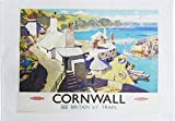 Cornwall See Britain by Train - Retro Style Travel Poster