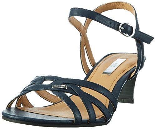 ESPRIT Damen Birkin Sandal Offene Sandalen Blau (400 Navy)