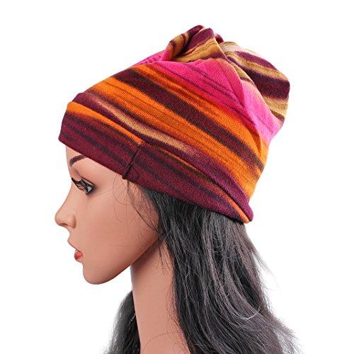 Das Kopftuch Damen Hut, Asnlove Unisex Damen Mode Multipurpose Hip-Hop Kopftücher 3D Blume Hut Bandanas Halstuch Biker Tuch Paisley Muster 26 x 26 CM, Rot - Krebs-hand-bands