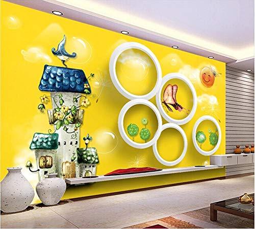 Qqasd Der Brauch, Die Wand des Kreises des Traumschlosses, Wohnzimmer Sofa TV Wand Kinderzimmer Tapete-430X300CM