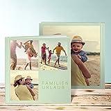 Fotobuch online selber gestalten, Fotobuch Trio II 40 Seiten, 20 Blatt, Hardcover 215x215 mm personalisierbar, Grün