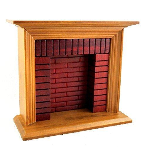 melody-jane-casa-de-munecas-madera-de-nogal-rojos-ladrillo-chimenea-troncos-112-muebles-miniatura