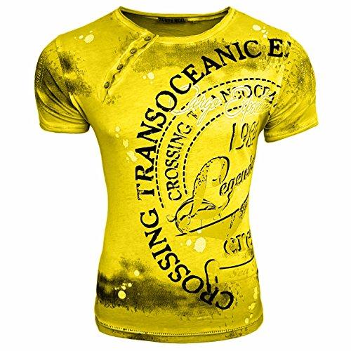 HERREN T-Shirts TShirt NEU Größe S M L M XL XXL RUNDHALS KURZARM Regular RN15045 Gelb