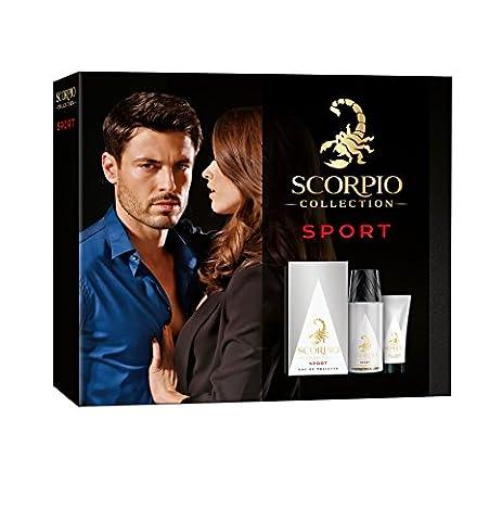 Scorpio Collection Sport Coffret pour Homme Eau de Toilette 75 ml + Déodorant Atomiseur 150 ml + Gel Crème pour Visage 50