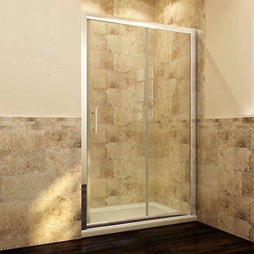 Schiebetür – Duschabtrennung mit Glas links und rechts - 2