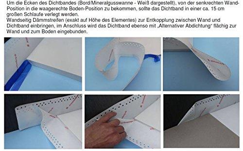 duschwannen dichtband Zusatzoption DICHTBAND für Duschelement / Duschwannen - Einheit ist 1 lfd. Meter