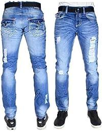 True peviani G pour homme jeans, Oxford droite Hip Hop Rip en denim