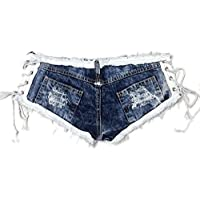 RXL-shorts Pantalones de mezclilla de talle bajo Pantalones cortos de mezclilla Pantalones cortos de mezclilla Pantalones cortos de mezclilla Pantalones cortos Club nocturno Mujeres