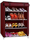 #3: Ebee 4 Shalves Shoe Cabinet (Maroon)