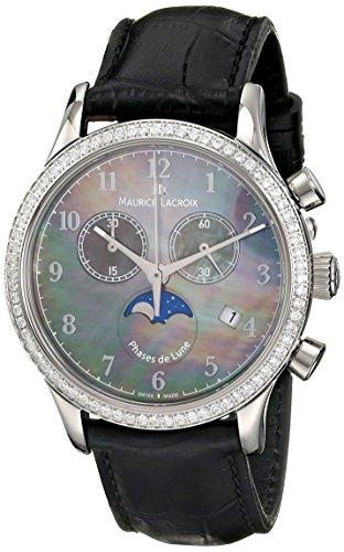 Maurice Lacroix lc1087-sd501-360Les Classiques de la Mujer analógico de Cuarzo Blanco Reloj