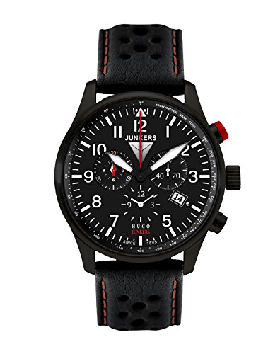 Junkers 6680-4 Mens Hugo Black Chronograph Watch