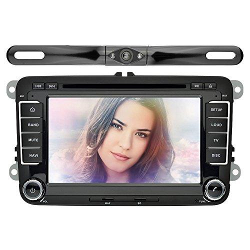 YINUO 7 pollici touchscreen capacitivo 2 DIN DVD veicolo autoradio navigatore satellitare GPS di navigazione del precipitare Bluetooth Car 7 Colore illuminazione dei tasti per VW Telecamera posteriore Incluso - Vw Turbo Systems
