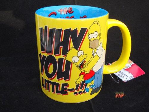 Die Simpsons-Bart und Homer Kaffeetasse aus Keramik BECHER Sammelfiguren 2012 [] sehr offiziell lizenziertes Produkt schön!
