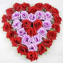Amazon Fr Coeur En Fleurs Artificielles