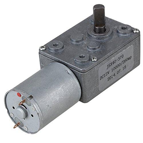 Preisvergleich Produktbild WEONE Metal Gear DC-Getriebemotor Reduktion Turbo Schneckengetriebemotor 12V 260rpm