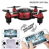 Leo565Tom Mini Drone con Fotocamera S18 Pieghevole Quadcopter Elicottero Giocattolo Aereo,...