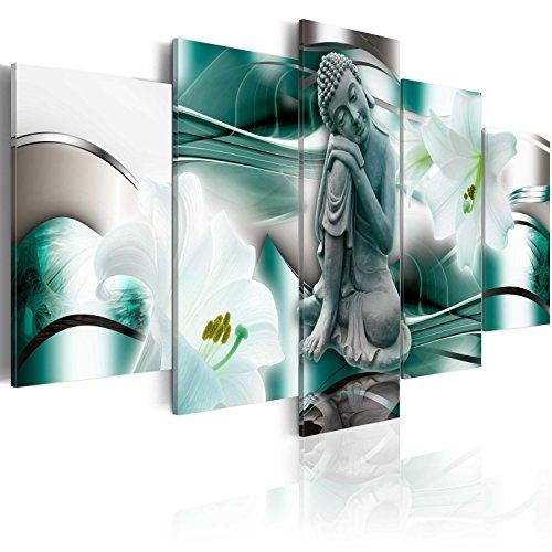 murando - Cuadro en Lienzo 200x100 cm - Buda - Impresion en calidad fotografica - Cuadro en lienzo tejido-no tejido - Flor Azucena h-A-0028-b-n