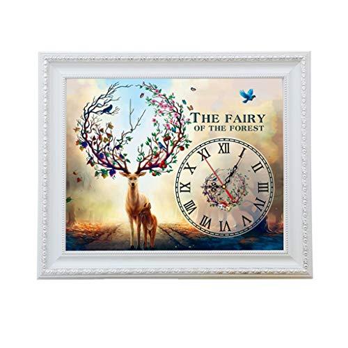 LINA Mètre Boîte Peinture Décorative Horloge Simple Salon Entrée Interrupteur Air Commutateur Boîte Nordique Cerf Écran Cristal Peintures