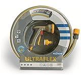 'Tricoflex Tuyau d'arrosage Ultraflex, gris 5/8avec robinetterie, 20m