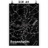 Mr. & Mrs. Panda Poster DIN A4 Stadt Rosenheim Stadt Black